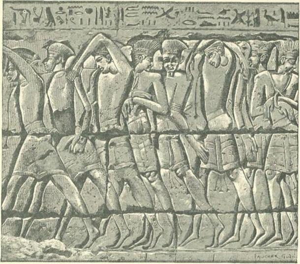 Procession of Philistine Captives at Medinet-habu