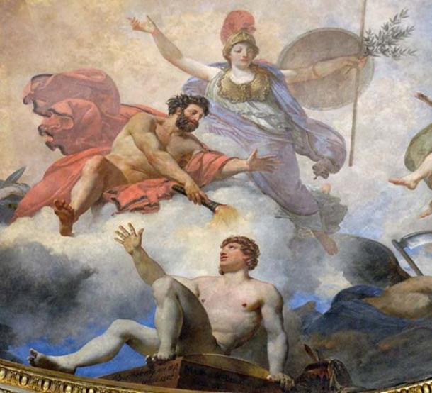 Prometheus creating man in the presence of Athena. Photo by Marie-Lan Nguyen.
