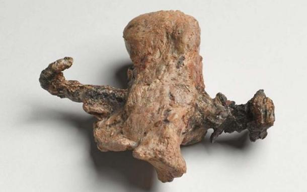 Proof of crucifixion: The heel bone and nail from the ossuary of Yehohanan, discovered in Jerusalem in 1968. (Courtesy of the Israel Museum. Photographer: Ilan Shtulman)