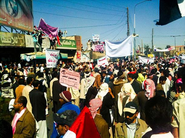 Protest in Sanaa, Yemen (February 3, 2011)