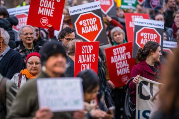 Protests against Adani coal mining in Australia. (Stop Adani / CC BY 2.0)