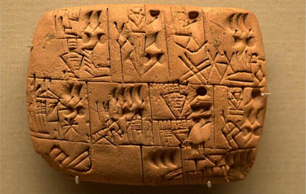 Proto-cuneiform recording the allocation of beer, probably from southern Iraq, Late Prehistoric period, about 3100-3000 BC