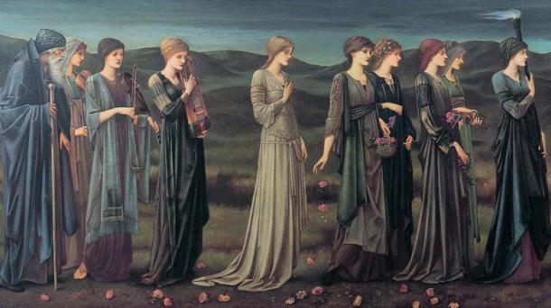 Psyche's Wedding (Pre-Raphaelite, 1895) photo by Edward Burne-Jones