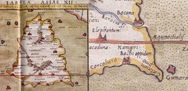 Ptolemy's Map of Bachi oppidum.