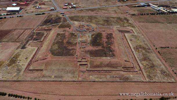 Puma Punku from the air (Author provided)