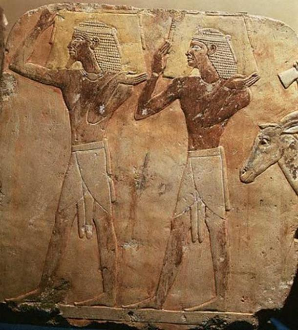 Puntite Workers carrying frankincense during Queen Hatshepsut's Expedition