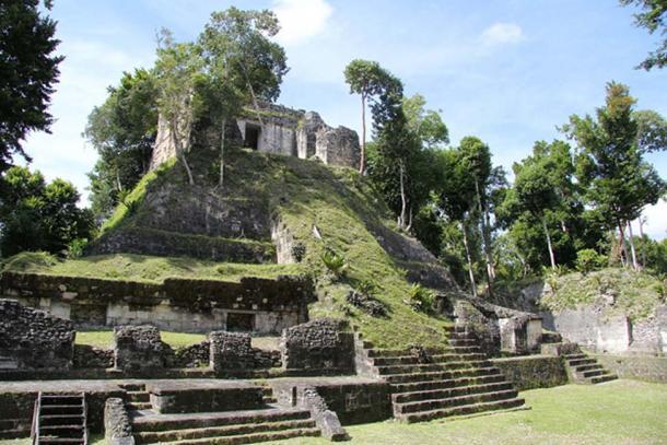 Pyramid Temple E in Nakum, Petén, Guatemala; Representational image only.