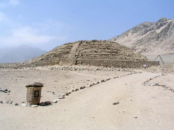 Pyramid at Caral, Supe Valley, Peru.