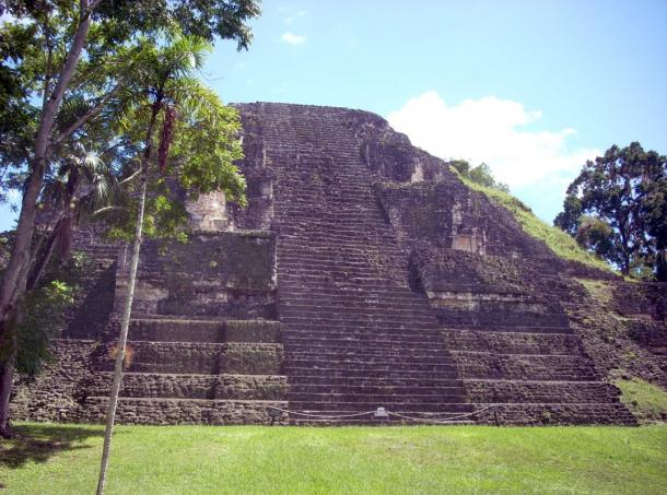 Pyramid of Group E, this western face has been restored.