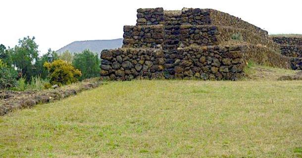 Pyramid of Güímar showing steps