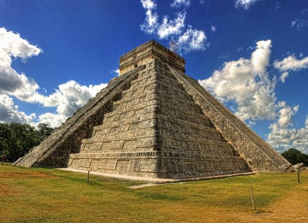 The Pyramid of Kukulkan was built above a giant cenote