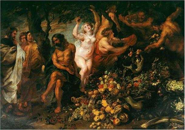 Pythagoras advocating vegetarianism, painting by Rubens.