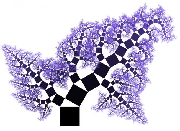 A Pythagorean fractal tree
