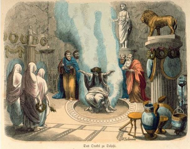 Pythia, the Oracle of Delphi (public domain)
