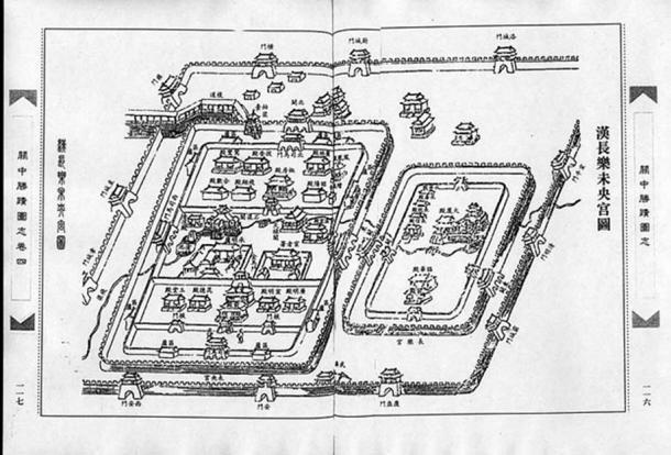Qing Dynasty illustration of Weiyang Palace and Changle Palace. (Public Domain)