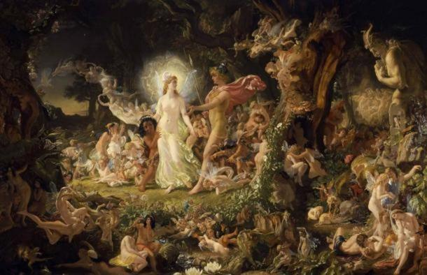 'The Quarrel of Oberon and Titania' by Noel Paton