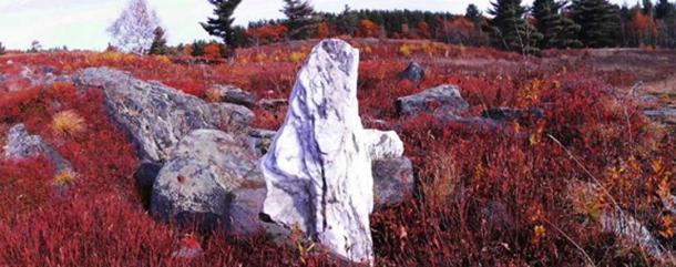 Quartz standing stone at Heath