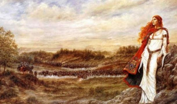 Artist's depiction of Queen Boudicca