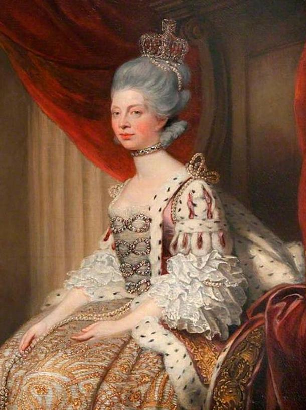 Queen Charlotte in Robes of State