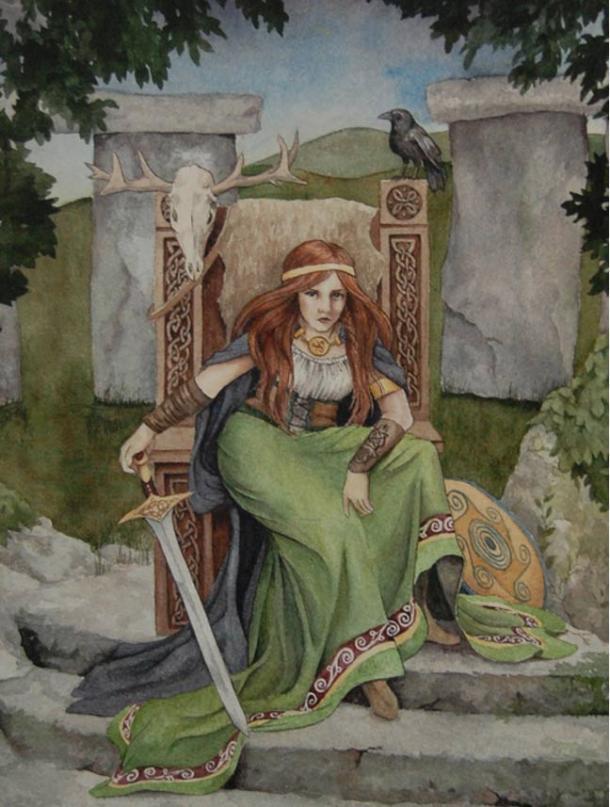 Legends say Queen Medb was a warrior queen.
