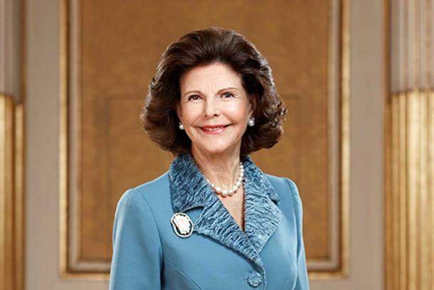Queen Silvia of Sweden.