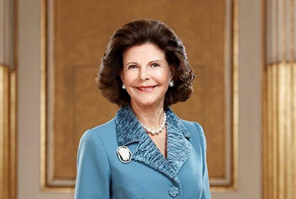 Queen Silvia of Sweden.