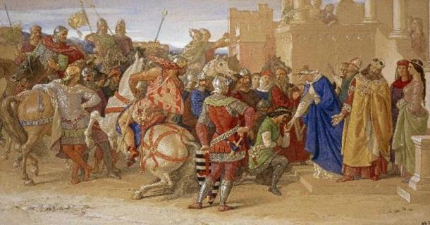'Piety: The Knights of the Round Table about to Depart in Quest of the Holy Grail' (1849) by William Dyce.