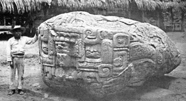 Quiriguá, Guatemala: Zoomorph B, after Maudslay, 1902.