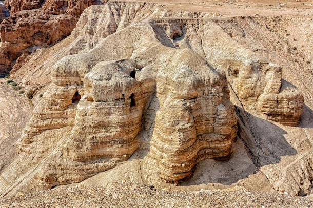 The Qumran Caves where the Dead Sea Scroll fragments were found in 1948. (alon / Adobe stock)