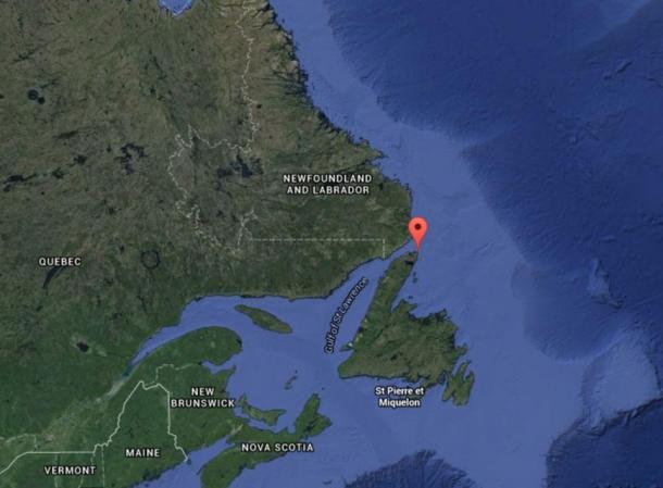 Google Maps screenshot of Quripon Island off the coast of Newfoundland