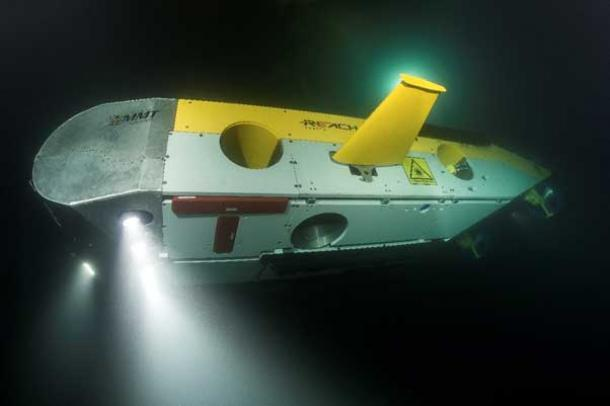 The Remotely Operated Vehicle (ROV) Surveyor Interceptor. It flies at 4-6 knots, 3-4 times as fast as conventional ROVS. It carries multibeam and sidescan sonar, sub       bottom profiler, HD cameras, powerful lights and a laser scanner.  Surveyor was developed by the advanced offshore survey companies MMT and Reach Subsea.  MMT are project partners of Back Sea MAP and it was the principal survey tool in 2016 operating at depths down to 1800m (over a mile down).