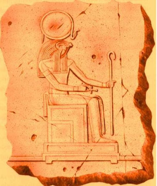 Ra is the sun-god of Heliopolis in ancient Egypt.