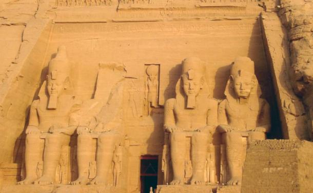 Ramesses II at his Abu Simbel, a large monument he had built to himself and his wife Nefertari