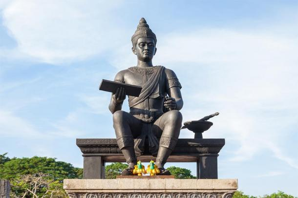 Statue of King Ramkhamhaeng, the third ruler of the Kingdom of Sukhothai. (Supanut Arunoprayote / CC BY-SA 4.0)