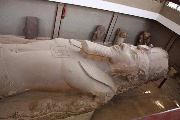 Ramses II colossal statue in the Memphis open air museum in Egypt.