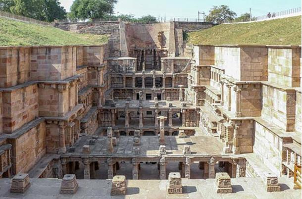 The elaborately constructed and carved Rani-ki-Vav, also known as the Queen's Stepwell.
