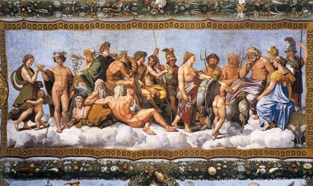 Raphael's 'The Council of Gods'.