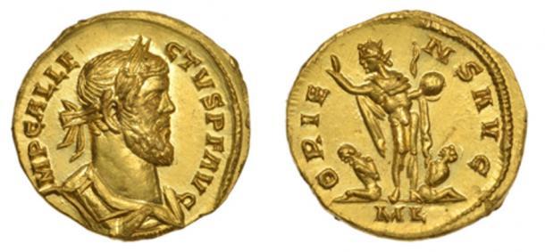 Rare Roman gold discovered in Kent, England Credit: Dix Noonan Webb
