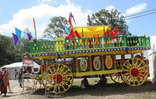 Ratha Yatra chariot at traditional Hindu festival still celebrated in modern times.