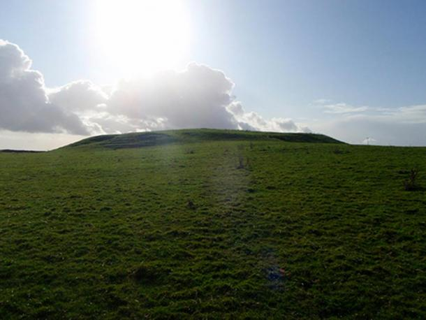 A view of the Rathcroghan Mound.