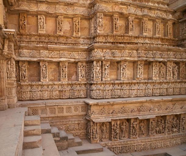 The Rav Ki Vav Stepwell in India.