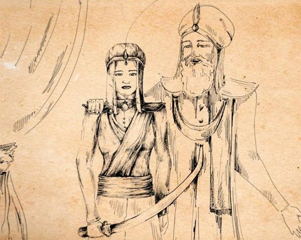 Razia's training was supervised by her father Sultan Iltutmish. (Avani Kamal / Google Arts & Culture)