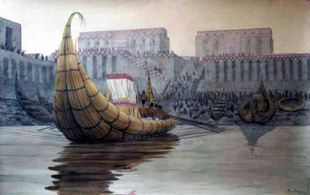 "Re-creation of the port at Eridu, an ancient ""Court of the King of the World""."