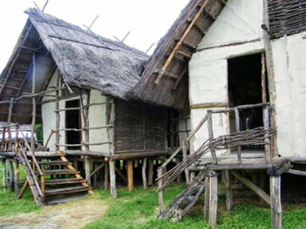 Reconstructed Terramare houses. (Vegetable / Public Domain)