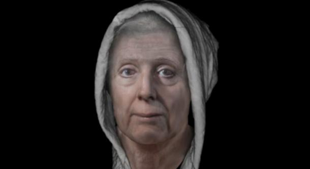 Reconstructed face of Lillias Adie. (Dundee University)