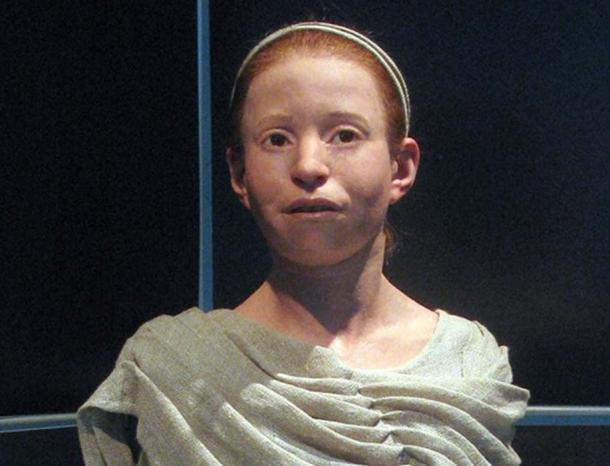 Reconstruction of Myrtis, now DNA can tell us hair and eye color. (Materialscientist / CC BY-SA 2.0)