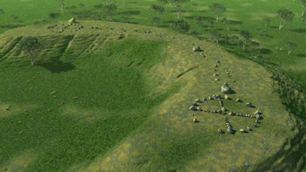 Reconstruction of Standing Stones Site. (Author Provided)