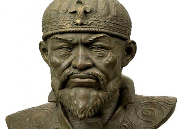 Reconstruction of Timur from his skull (CC BY SA 3.0)