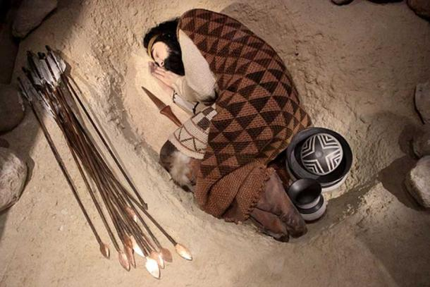 Reconstruction of a Beaker burial, (National Archaeological Museum of Spain, Madrid).