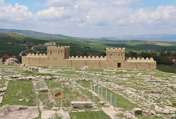 Reconstruction of a part of the Hittite city wall, Lower City of Hattusa, Turkey